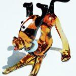 Glass Pluto Dog in Murano Glass