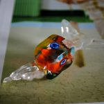 Glass Square Lolly in Murano Glass