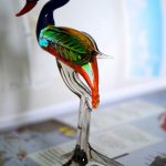 Murano Glass Emu figurine
