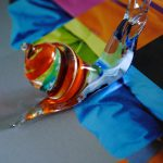 Glass snail in vetro a lume di Murano