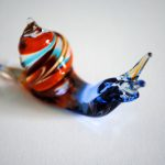 Glass snail figurine