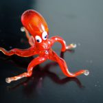 100% handmade octopus in Murano glass