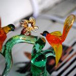 Murano Glass flowers and birds.