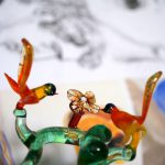 Glass tree with birds and flower handmade in Italy