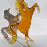 Horse sculpture in Murano glass