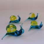Murano Glass Snails family
