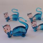 Murano Glass Cats family
