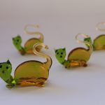 Cats family in Murano Glass