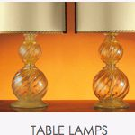 Murano glass table lamps