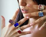 Murano glass jewellery rings
