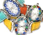 Murano glass jewellery wirstwatches